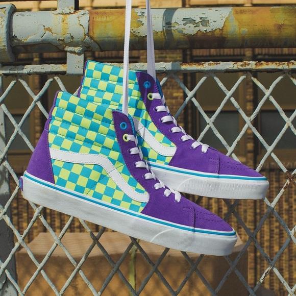 Vans Shoes | Blue Green Purple High Top